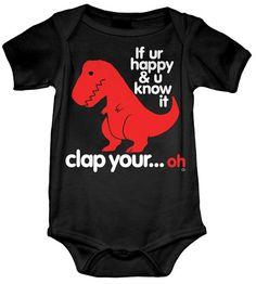 Sad T-Rex Onesie (GT2339-800BLK) babies, onesies, sad t-rex, funny onesies, funny baby onesies, baby tees, dino, dinsosaur onesie, dinosaurs