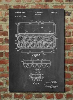 Egg Carton Poster Egg Carton Patent Egg Carton Print Egg Carton Art Egg Carton…