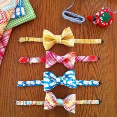 Simple DIY for bowties #boys #bowties #diy