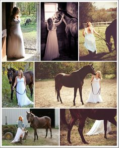 Jewel Photo featured on I Love Farm weddings - bride with horse photo shoot