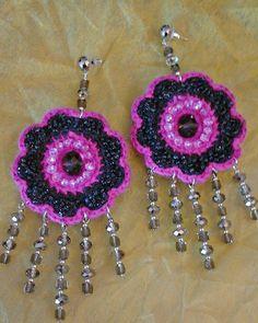 Orecchini Boho fiore in lana  di Athiss su DaWanda.com