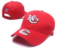 97844221ca1 Kansas City Chiefs NFL Baseball Caps Red Curved Brim Hats