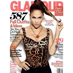 Glamour Cover September 2010 - MyFDB ❤ liked on Polyvore featuring cover, jennifer lopez, magazine, models and magazine cover