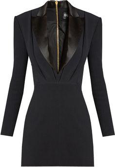 Balmain Satin-lapel Mini Tuxedo Dress In Black Balmain Dress, Dress Outfits, Fashion Outfits, Tuxedo Dress, Trendy Fashion, Womens Fashion, Blazer Dress, Black Cocktail Dress, Mantel