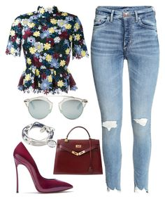 Fall by kimeechanga on Polyvore featuring polyvore fashion style Erdem Casadei Hermès Lizzy James Christian Dior clothing