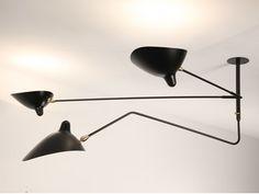 Lampada da soffitto a luce diretta e indiretta orientabile in metallo S2B1C | Lampada da soffitto