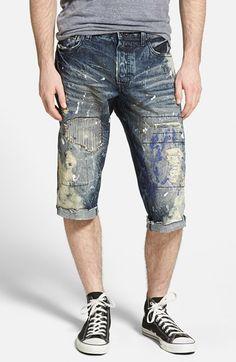PRPS 'Blossom' Rip and Repair Cutoff Denim Shorts (Dark Indigo) available at #Nordstrom