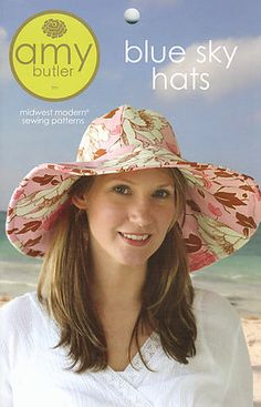 Sun hat pattern by Amy Butler. My MIL is going to have a big pile for me in her sewing room.
