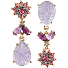 Betsey Johnson Fall Follies Flower Non-Matching Earrings Earring,... (€30) ❤ liked on Polyvore featuring jewelry, earrings, multi, gold tone earrings, tri color earrings, multicolor earrings, colorful earrings and betsey johnson jewelry