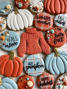 Fall Decorated Cookies, Fall Cookies, Iced Cookies, Cute Cookies, Easter Cookies, Royal Icing Cookies, Cupcake Cookies, Sugar Cookies, Holiday Cookies