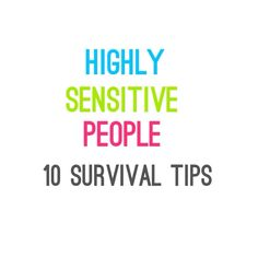 Highly Sensitive People #HSP #MentalHealth