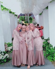 Dress Brokat Muslim, Dress Pesta, Kebaya Muslim, Muslim Dress, Kebaya Hijab, Dress Brukat, Hijab Dress Party, Lace Dress, Indian Fashion Dresses