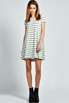 Katie Striped Swing Dress - multi
