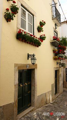 Alfama neighbourhood Traditional streets in Lisbon