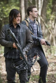 Still of Norman Reedus and Ross Marquand in The Walking Dead (2010)