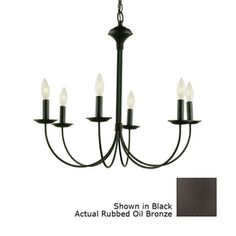 Westmore lighting spades 29 in 9 light oil rubbed bronze candle portfolio 6 light new century oil rubbed bronze chandelier 14038 aloadofball Images