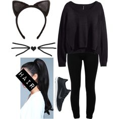 """DIY: Cat Costume"" by elise-loves-you-xoxo on Polyvore"