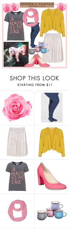 """Coffee and Friendship are Magic"" by curvyquill ❤ liked on Polyvore featuring Ashley Stewart, Zizzi, Isolde Roth, ECCO and DutchCrafters"