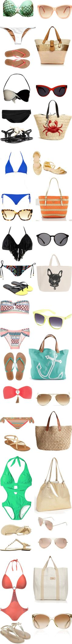 """""""Ready for the Beach"""" by maggie-carman on Polyvore"""