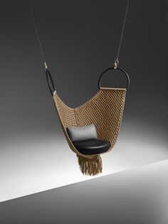 "Louis Vuitton Launches Its Latest ""Objets Nomades"" Furniture Collection Louis Vuitton Nomadic Objects Hanging Chair Hanging Furniture, Bar Furniture, Unique Furniture, Furniture Design, Office Furniture, Hanging Chairs, Business Furniture, Outdoor Furniture, Farmhouse Furniture"