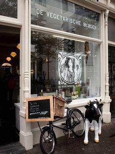 "The Vegetarische Slager (the Vegetarian Butcher), Amsterdam. Particularly the veggie ""meatballs"" are scrumptious!"