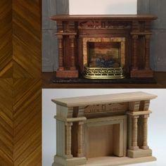 Une cheminée en bois sombre pour le bureau par Catherine B.
