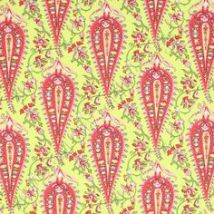 Paisley in lime