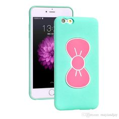 Body Glove Cell Phone Cases For Iphone 6/6plus Samsung Galaxy S6/S6 Edge Cartoon Cases Cute Butterfly Bow Stand Holder Case Slim Silicon Rubber Back Cover Phone Cover From Mayiandjay, $2.1