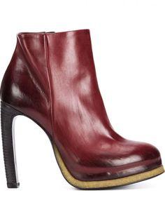 VIC MATIE - Heeled Side-Zip Boot - 1M6082D WINE RED/SAND - H. Lorenzo