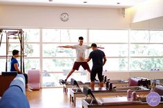 Armand breaks down the mechanics of the Side Splits on the #Reformer.  #pilates www.thepilatesflow.com.sg http://www.facebook.com/ThePilatesFlow
