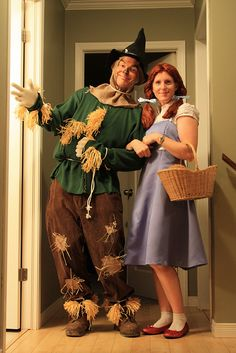 Halloween. Dorothy and Scarecrow