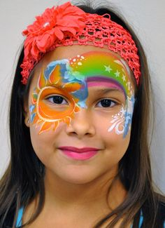 """""""My Sunshine"""" Face Painting Design & Tutorial by Silly Heather"""