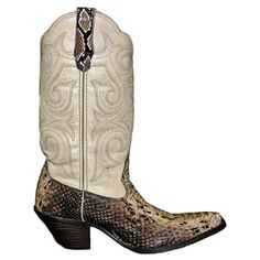 Python skin cowboy boots