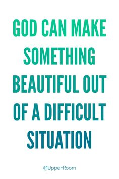 When we do not understand how God is working in our lives, we can pray and trust that God can work bad things for good.