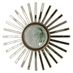 Premier Housewares Glass Wall Mirror, 90 x 4 x 90 cm: Amazon.co.uk: Kitchen & Home