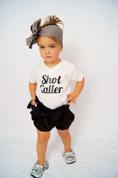 Shot Caller shirt - Kids Shirt - Infant - Baby - Toddler - Funny Shirt - Graphic Tee - Rule Maker -  Boss by BGatsbyGifts on Etsy https://www.etsy.com/listing/235982355/shot-caller-shirt-kids-shirt-infant-baby