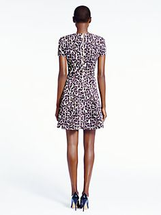 autumn leopard flared dress, classic beige by Kate Spade