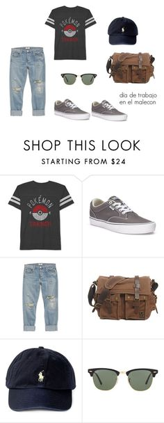 Sin título #101 by laura-juvera on Polyvore featuring JEM, A Gold E, Vans, Ray-Ban, Polo Ralph Lauren, men's fashion and menswear