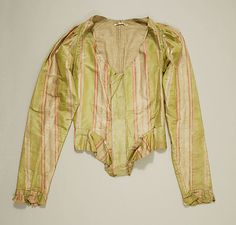 Bodice  Date: 18th century Culture: American or European Medium: silk Dimensions: [no dimensions available] Credit Line: Gift of Mr. Lee Simonson, 1939 Accession Number: C.I.39.13.205