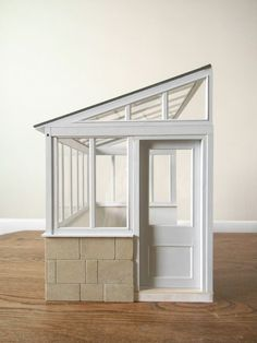 1:12 Lean to conservatory... This is just so cute and simple, I feel like even I could make it. #conservatorygreenhouse