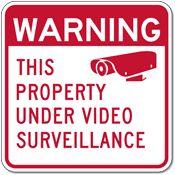 Video Surveillance Sign Warning Property Under Video Surveillance Sign - - Reflective rust-free heavy-gauge aluminum Security Signs Bullet Camera, Rust Free, Surveillance System, Alarm System, Warning Signs, Security Alarm, Sayings, Cameras, Jay