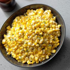 Creamy Jalapeno Corn Recipe: How to Make It   Taste of Home Taco Side Dishes, Picnic Side Dishes, Corn Dishes, Side Dishes Easy, Dinner Dishes, Jalapeno Recipes, Corn Recipes, Salad Recipes, Chilli Recipes