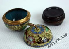 !!!!!! ANTYK - PUZDERKO JABŁKO - CLOISONNE !!! Decor, Decoration, Decorating, Deco