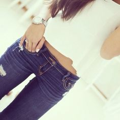 Spring Fashion, Girl Fashion, Favim, Hollister, What To Wear, Spring Summer, Skinny Jeans, My Style, Girl Style