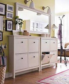 SHOE STORAGE GARAGE for garage  Brilliant!   Ikea shoe storage cabinets