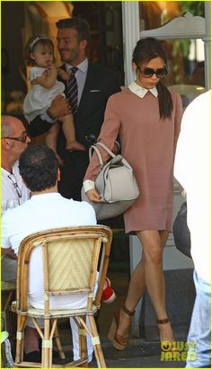 David & Victoria Beckham: Notting Hill Lunch with baby Harper