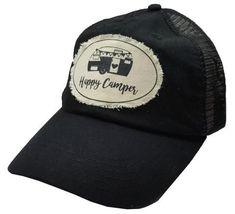 6044a8ea2a466 Happy Camper in Deep Black (non Vintage) · Black Baseball CapBaseball ...