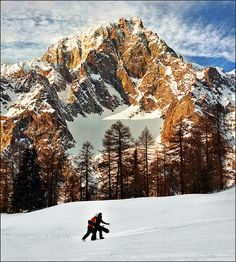 Mont Blanc, taken from Aosta Valley, Italy Aosta Valley, Best Of Italy, The Mountains Are Calling, Snow Scenes, Visit Italy, Natural Wonders, Outdoor Camping, Alps, Italy Travel