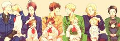 Hetalia - Prussia / Germany / Austria / Italy / Spain / Romano / England / America / France / Canada / China / Japan