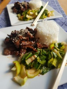 Asian Recipes, Beef Recipes, Ethnic Recipes, Pak Choi, Food Inspiration, Food And Drink, Low Carb, Rice, Meat